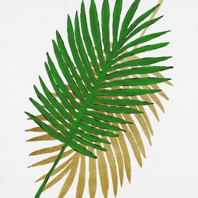 Palm leaves gold